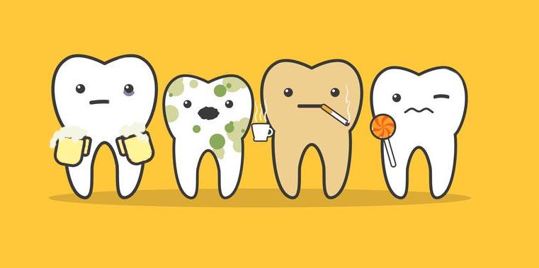 Preché si macchiano i denti